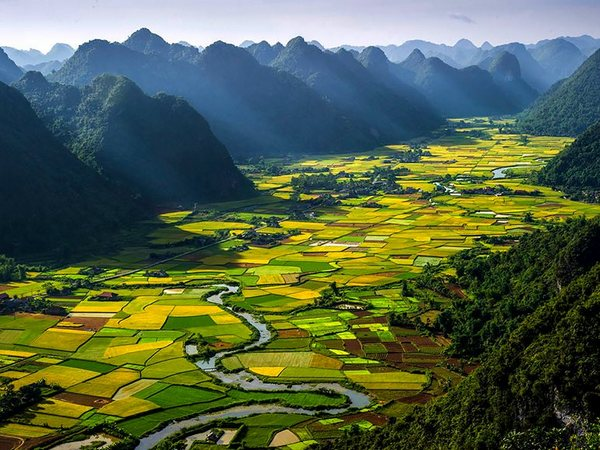 Bac Son Valley Vietnam Aerial Photo