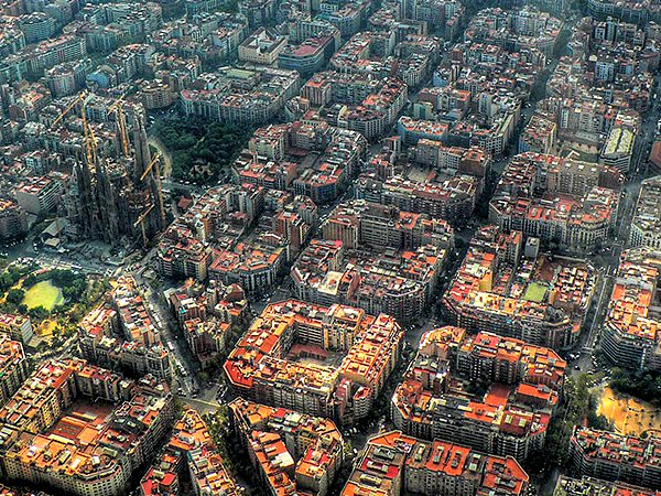 Aerial Photo of Barcelona Spain