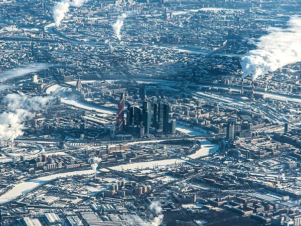 Aerial Photo of Moscow Russia