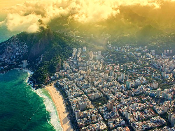 Rio from an airplane window