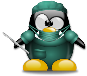 Cartoon Penguin Surgeon