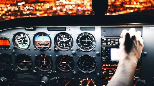 airline airplane cockpit