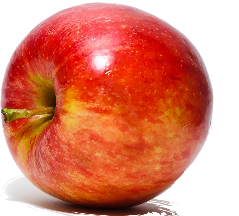 bright red apple