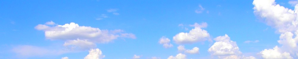 blue sky white clouds banner image