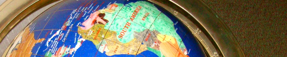 world globe south america