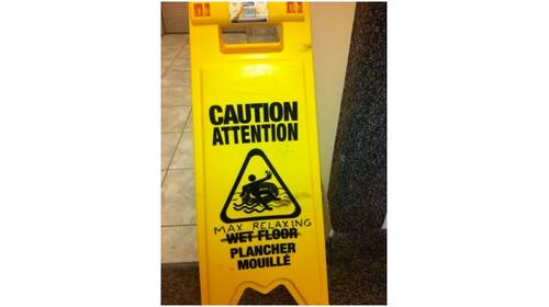 caution attention man relaxing