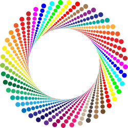 Whirling colorful graphic circle