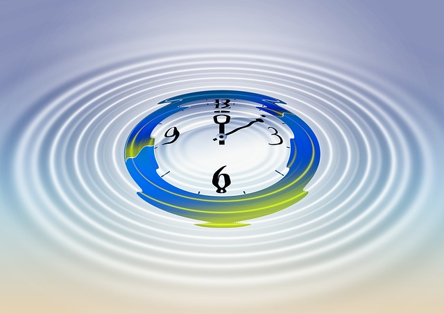 clock in water artwork
