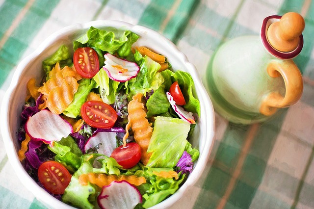 colorful spring salad