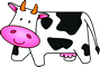 smiling cow cartoon