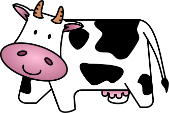 cartoon cow smiling