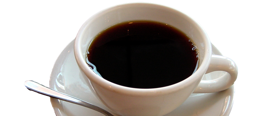 attractive cup of black coffee