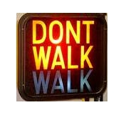 walk, dont walk, electic sign