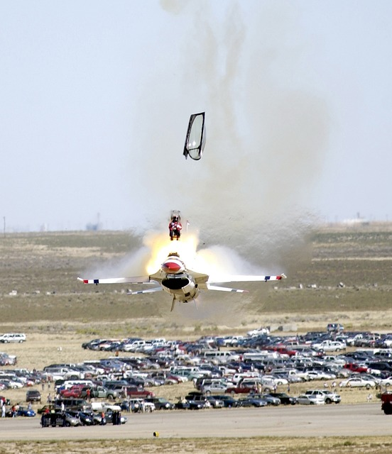pilot ejecting from fighter aircraft