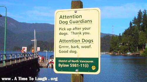 dog guardians funny sign