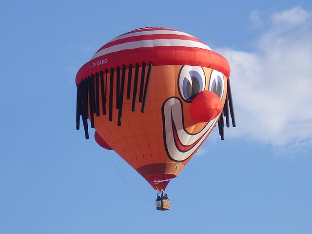clown hot air balloon