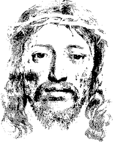 face of jesus christ drawing