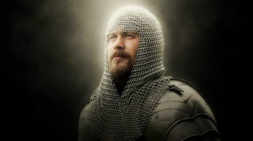 knight in chain mail