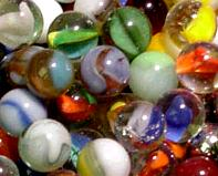 colorful marbles, cat eyes, snake eyes