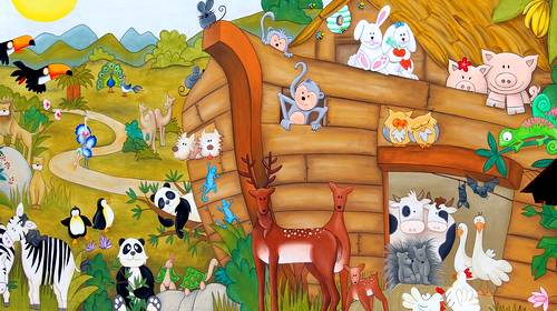 Noah's Ark cartoon graphic