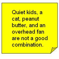 note quiet kids cat peanut butter