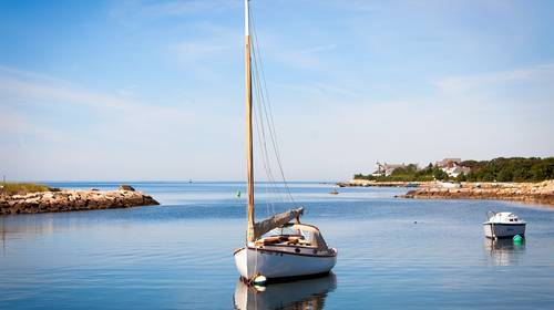 sailboat in harbor