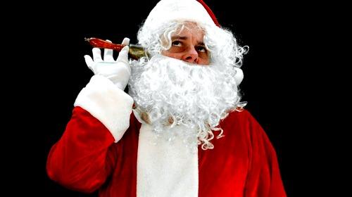 santa with a handbell