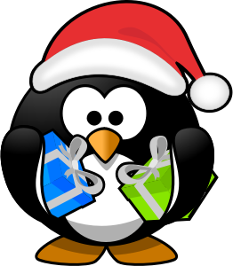 santa penguin cartoon