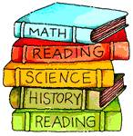 math reading science history school books