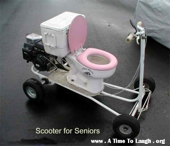 funny senior scooter