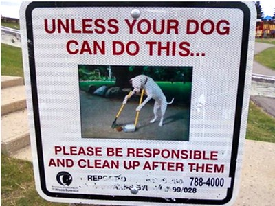 unless your dog can do this sign