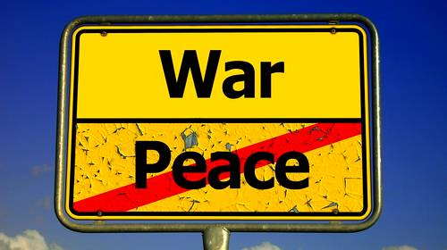 war and peace sign