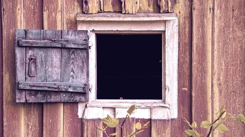 open barn window